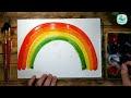 Фрагмент с средины видео - Как нарисовать РАДУГУ красками | Простые рисунки красками | Урок рисования для детей