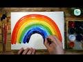 Фрагмент с конца видео - Как нарисовать РАДУГУ красками | Простые рисунки красками | Урок рисования для детей