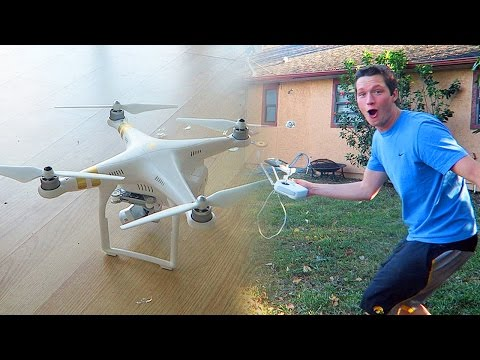 DJI Phantom 3 Professional Quad Drone - Unboxing and First Flight