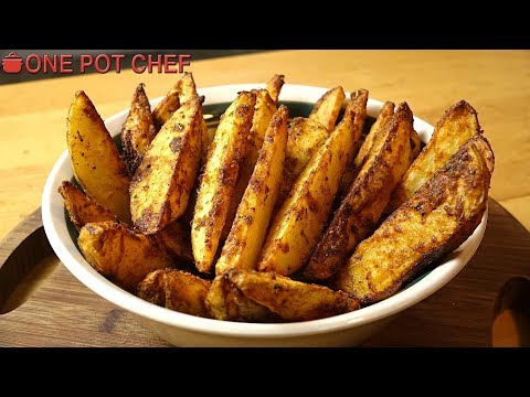 Ultimate Oven Baked Potato Wedges   One Pot Chef