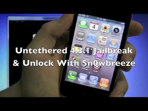 How To Jailbreak 4.3.1 Untethered & Unlock iPhone 4/3Gs iPod Touch 4G/3G & iPad - Windows