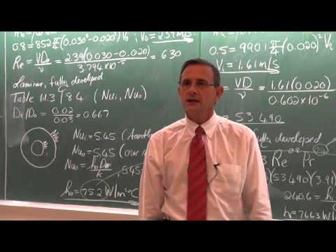 Lecture 34 (2013). 11.2 Overall heat transfer coefficient. Two heat exchanger examples.