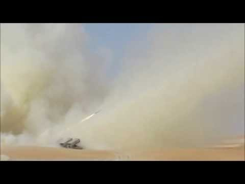 Jobaria MCL Multiple Cradle 122mm rocket launcher system live firing idex 2013 United Arab Emirates