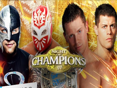 WWE Night of Champions 2012 - Fatal 4 Way Match! (WWE 12 Game Machinima THQ)