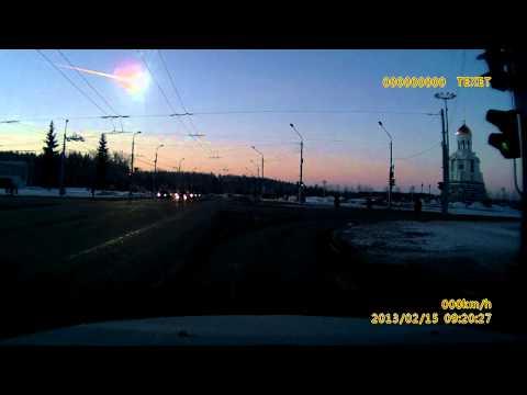 Видео вспышки над Челябинском 15.02.2013