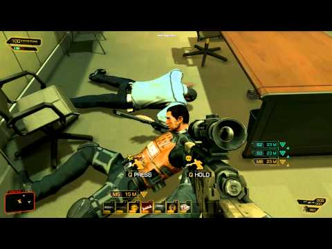 Adam Jensen knows how to enter a room.
