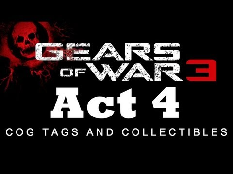 Gears of War 3: COG Tag and Collectible Locations for Act 4 [HD]