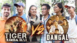 Salmans Tiger Zinda Hai Vs Aamirs Dangal - PUBLIC REACTION - Tiger फाड़ देगा