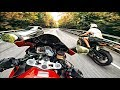 Очень быстрая езда на мотоцикле по опасным дорогам Сочи