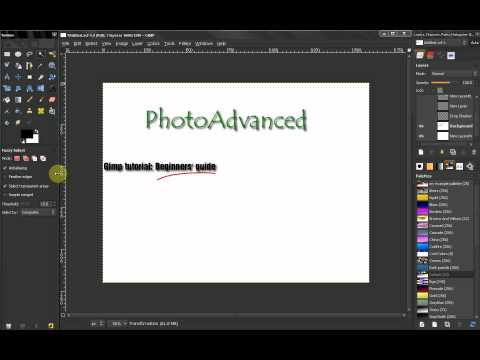 PhotoAdvanced  GIMP Beginners' Guide Announcement