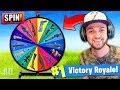 WHEEL CHOOSES my GUN in Fortnite: Battle Royale! (+ GIVEAWAY)