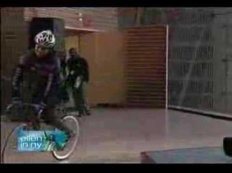 Bike Messenger Squid on Ellen