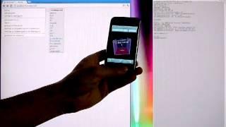 Accelerometer 3D cube + WebSocket relay