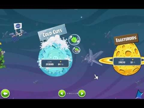 Angry Birds Space: Cold cuts Final boss Battle & Ending Cutscene!