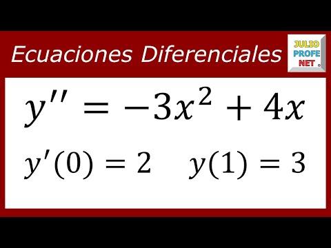 Ecuación diferencial de segundo orden resuelta por separación de variables