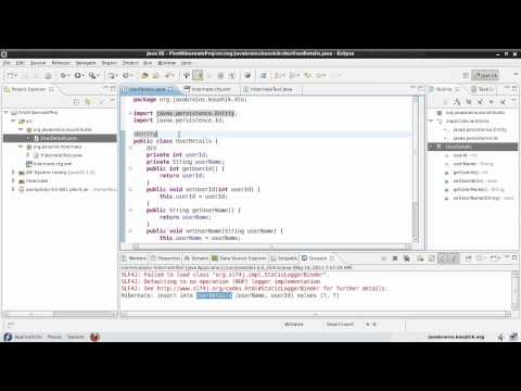 Hibernate Tutorial 04 - hbm2ddl Configuration and Name Annotations
