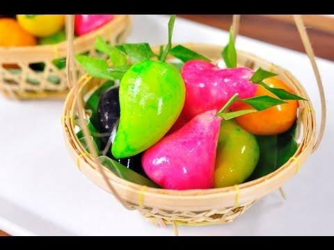 ลูกชุบ (ขนมไทย) Kanom Look Choup l FoodTravel