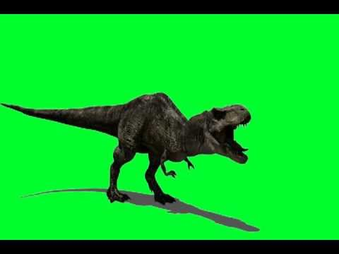 HD 720p 3D Green Screen T-Rex