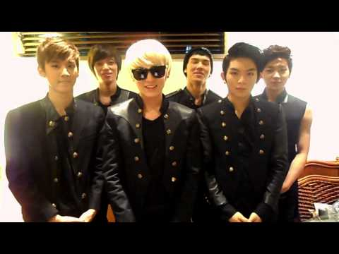 TEENTOP's greeting message to Thai fans [2012 TEENTOP FAN MEETING IN BANGKOK THAILAND]