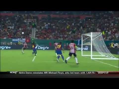 GOAL OF THE YEAR?  Marco Fabian-s Bicycle Kick Goal:Chivas Guadalajara vs. Barcelona 3/8/2011