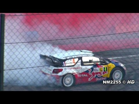 Sebastien Loeb BURNOUT with his Citroen DS3 WRC - 2011 Monza Rally Show