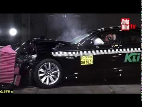 2011 BMW 5-Series (F10) Brake Assist Demonstration (Test Performed By Dekra)