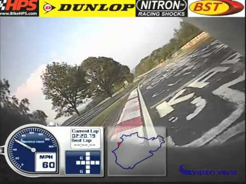Fastest motorcycle lap of the Nrburgring. 7m10s BTG Yamaha YZF R1.