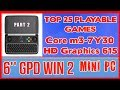 6'' GPD Win 2 Top 25 playable games (part 2) Mini PC - 256 GB SSD 8GB RAM Intel Core m3-7Y30 HD 615