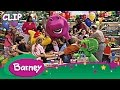 Barney Shares A Hug With Demi Lovato!