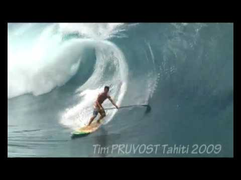 Stand Up Paddle Patrice CHANZY Monster Wave Teahupoo Tahiti