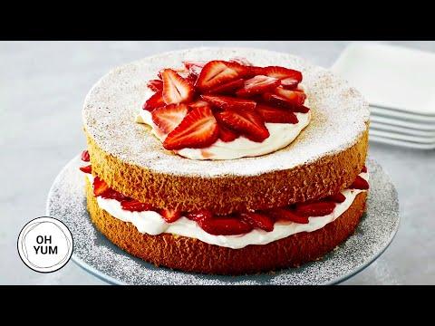 Amazing Shortcake Recipe: Strawberries and Cream Cake