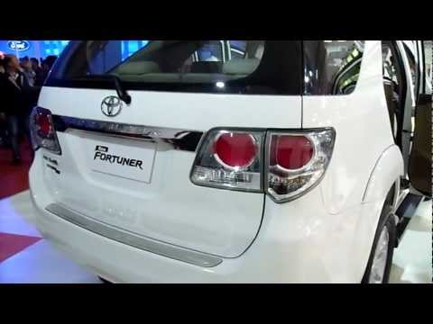 All Round View of the New Toyota Fortuner at Auto Expo 2012, New Delhi, India