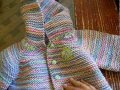 Resultado de mi reto: Suéter con gorra niño 1 año
