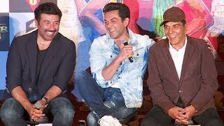 Dharmendra,Sunny & Bobby Deol's FUNNY Moments At Poster Boys Trailer Launch