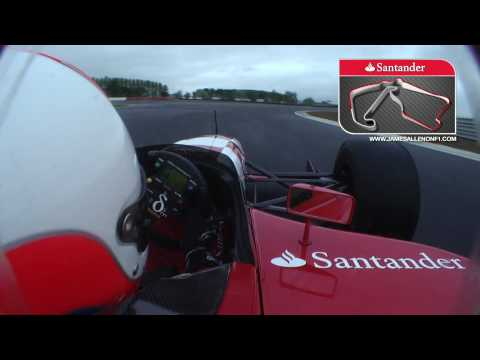 First flying lap of the Silverstone Grand Prix Circuit - James Allen on F1
