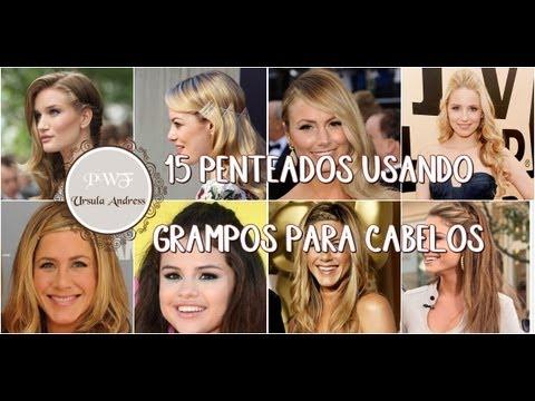 15 Penteados Fáceis e Lindos Usando Grampos para Cabelo | PINK WOMAN FASHION