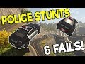 POLICE STUNTS & EPIC FAILS! - Flashing Lights Multiplayer Gameplay - Police Simulator