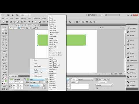 Fireworks CS5. Tutorial. Creating Vector Shapes. (1 of 6).wmv
