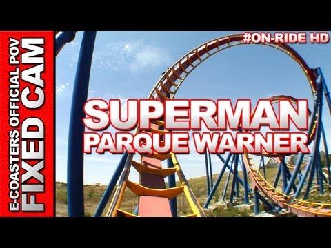 Superman - OnRide - Parque Warner (ECAM HD)