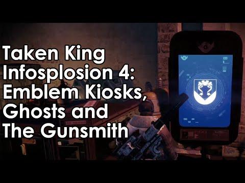 Destiny Taken King: Emblem/Shader Kiosks, Ghosts, The Gunsmith & More (Infosplosion 4) - UCkmAjbIecTIjTQctolYeuDw