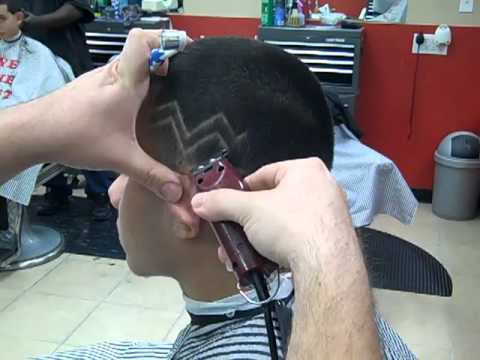 How to do a hair design hair cut with Wahl Detailers #1