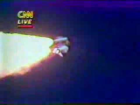 Challenger Disaster Live on CNN