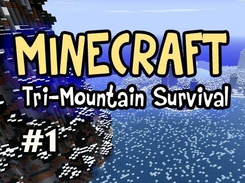 Minecraft: Tri-Mountain Survival Ep.1 w/Nova - Choose a Mountain!