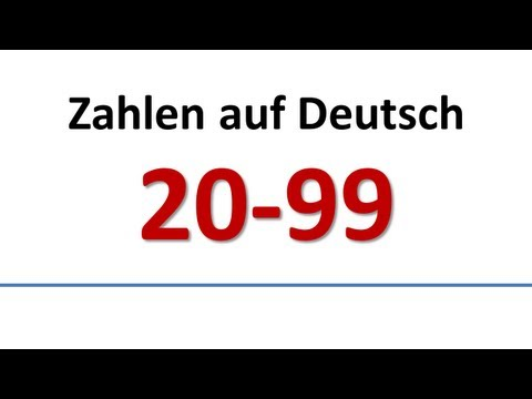 Deutsch: Wortschatz - Zahlen 20-99 (deutsche Untertitel)/German: Numbers (German subs)
