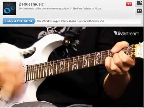 Steve Vai - World's Largest Online Guitar Lesson