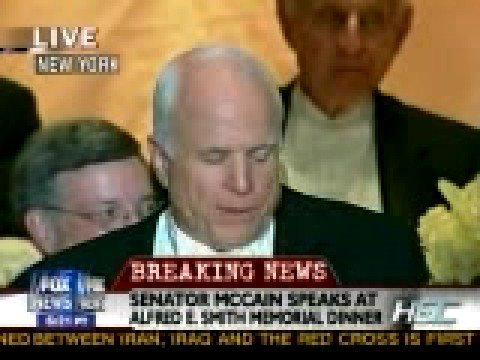 McCain Roasts Obama At Alfred E. Smith Dinner (High Quality)