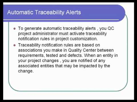 Quality Center 12 : Traceability