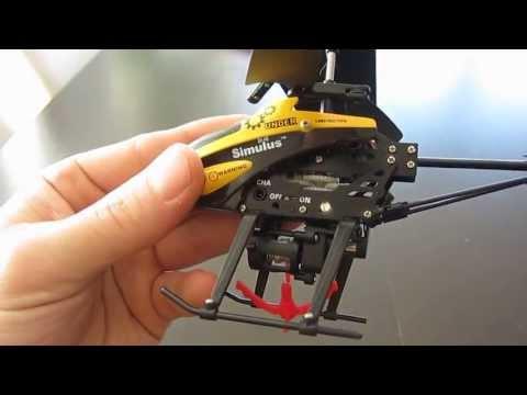 Test / Essai Mini hélicoptère Simulus