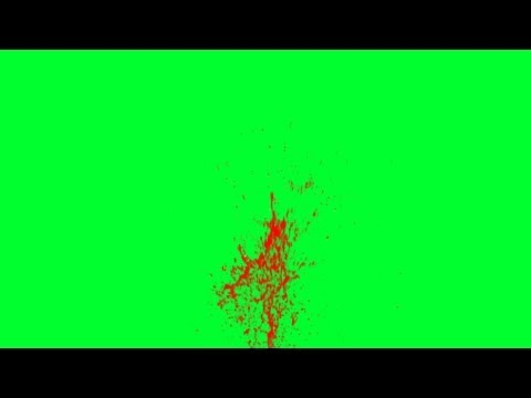 blood spatter moves - green screen effects