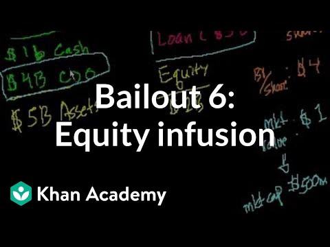 Bailout 6: Getting an equity infusion